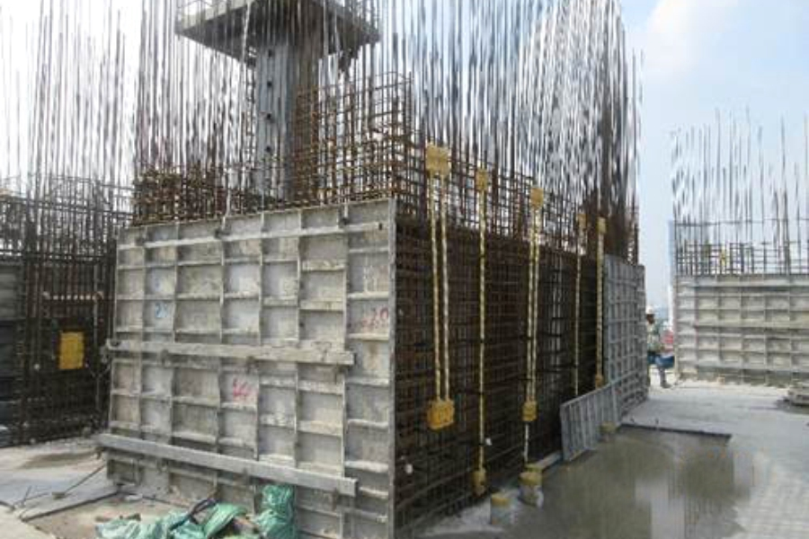 Constructing shear wall up to level 11
