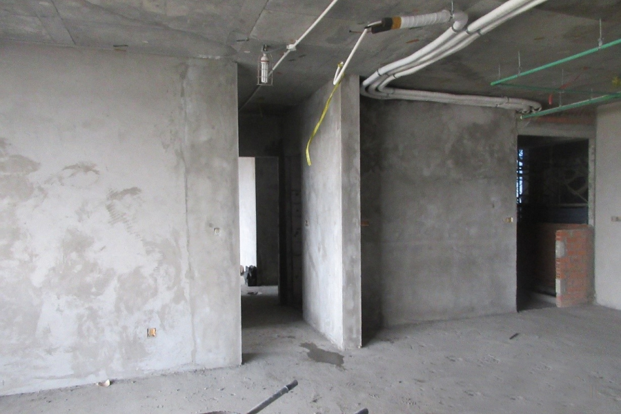 Plaster work at level 7