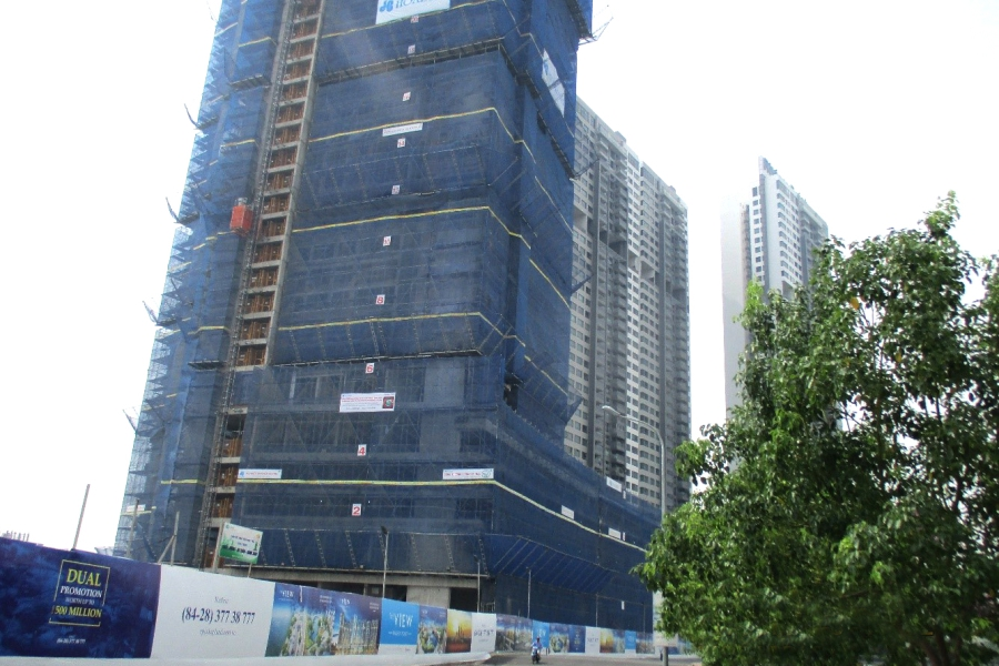 Construction site of The View at Riviera Point