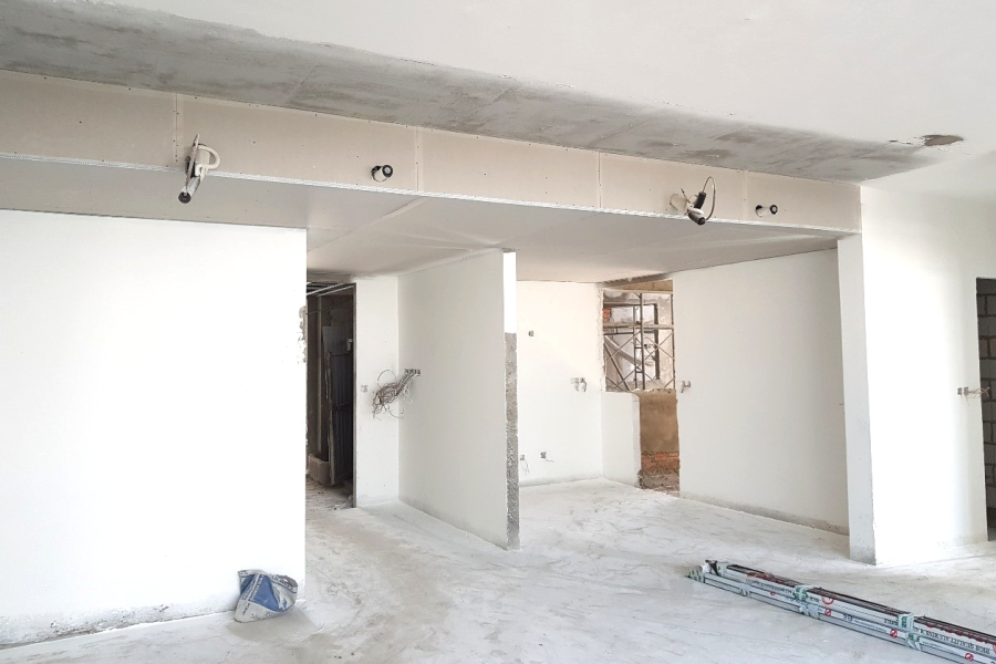 Ceiling installation at level 25