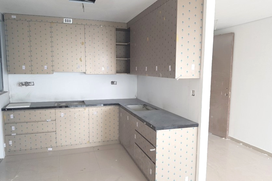 Kitchen of fitted unit
